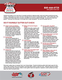 DIY Gutter Gut Check Sheet